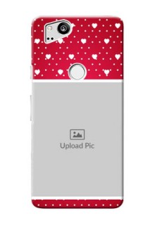Google Pixel 2 custom back covers: Hearts Mobile Case Design