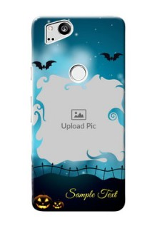 Google Pixel 2 Personalised Phone Cases: Halloween frame design