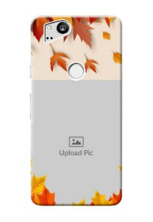 Google Pixel 2 Mobile Phone Cases: Autumn Maple Leaves Design