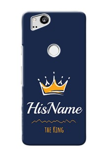 Google Pixel 2 King Phone Case with Name