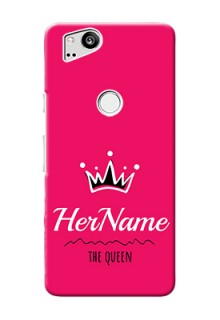 Google Pixel 2 Queen Phone Case with Name