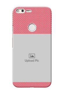 Google Pixel XL Custom Mobile Case with White Dotted Design