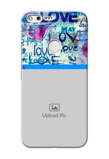 Google Pixel XL Mobile Covers Online: Colorful Love Design