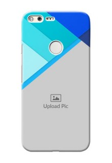 Google Pixel XL Phone Cases Online: Blue Abstract Cover Design