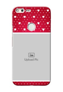 Google Pixel XL custom back covers: Hearts Mobile Case Design