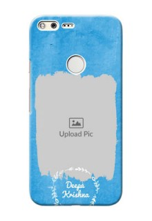 Google Pixel XL custom mobile cases: Blue Color Vintage Design