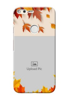 Google Pixel XL Mobile Phone Cases: Autumn Maple Leaves Design