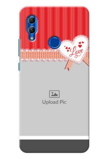 Honor 10 Lite phone cases online: Red Love Pattern Design