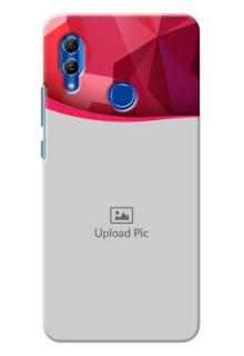 Honor 10 Lite custom mobile back covers: Red Abstract Design