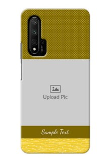 Honor 20 Pro custom mobile back covers: Simple Green Color Design
