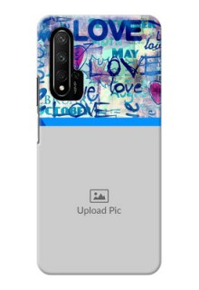 Honor 20 Pro Mobile Covers Online: Colorful Love Design