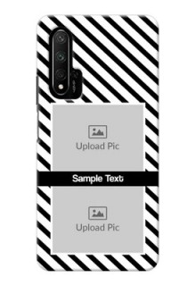 Honor 20 Pro Back Covers: Black And White Stripes Design