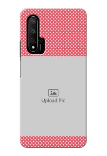Honor 20 Custom Mobile Case with White Dotted Design