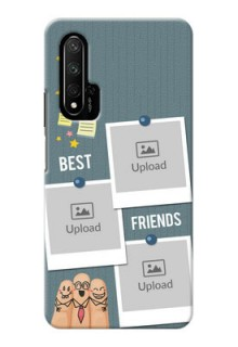 Honor 20 Mobile Cases: Sticky Frames and Friendship Design