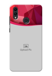 Honor 8C custom mobile back covers: Red Abstract Design
