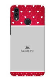Honor 8C custom back covers: Hearts Mobile Case Design