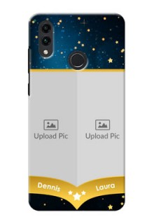 Honor 8C Mobile Covers Online: Galaxy Stars Backdrop Design