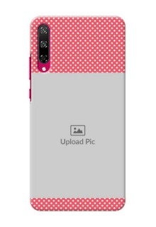 Honor Play 3 Custom Mobile Case with White Dotted Design