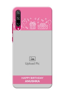 Honor Play 3 Custom Mobile Cover with Birthday Line Art Design