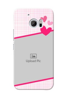 HTC Desire 10 Pink Design With Pattern Mobile Cover Design
