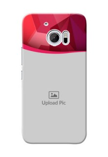 HTC Desire 10 Red Abstract Mobile Case Design