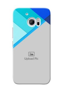 HTC Desire 10 Blue Abstract Mobile Cover Design