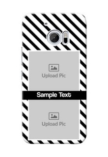 HTC Desire 10 2 image holder with black and white stripes Design