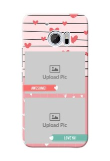 HTC Desire 10 2 image holder with hearts Design