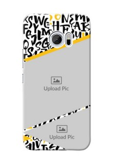 HTC Desire 10 2 image holder with letters pattern  Design