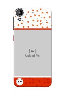 HTC Desire 530 Orange Love Symbol Mobile Cover Design