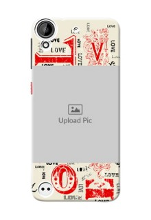 HTC Desire 530 Lovers Picture Upload Mobile Case Design