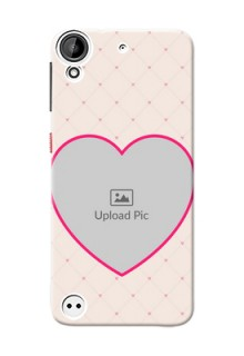 HTC Desire 530 Love Symbol Picture Upload Mobile Case Design