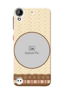 HTC Desire 530 Brown Abstract Mobile Case Design