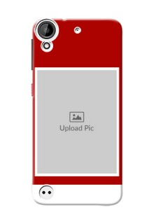 HTC Desire 530 Simple Red Colour Mobile Cover  Design