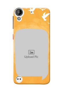 HTC Desire 530 watercolour design with bird icons and sample text Design Design
