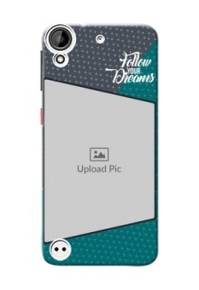 HTC Desire 530 2 colour background with different patterns and dreams quote Design Design
