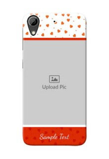 HTC Desire 626 Orange Love Symbol Mobile Cover Design