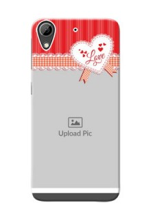 HTC Desire 626 Red Pattern Mobile Cover Design