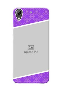 HTC Desire 626 Violet Pattern Mobile Case Design