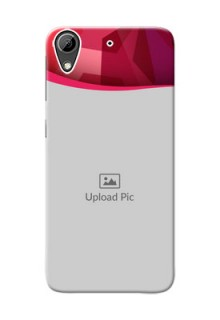 HTC Desire 626 Red Abstract Mobile Case Design