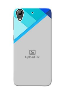 HTC Desire 626 Blue Abstract Mobile Cover Design