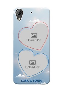 HTC Desire 626 couple heart frames with sky backdrop Design