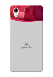HTC Desire 728 Red Abstract Mobile Case Design