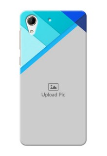 HTC Desire 728 Blue Abstract Mobile Cover Design