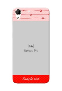 HTC Desire 728G Red Pattern Mobile Case Design