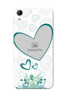 HTC Desire 728G Couples Picture Upload Mobile Case Design