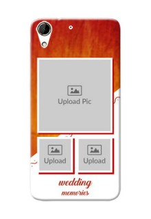 HTC Desire 728G Wedding Memories Mobile Cover Design