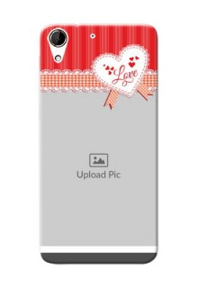 HTC Desire 728G Red Pattern Mobile Cover Design
