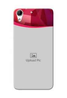 HTC Desire 728G Red Abstract Mobile Case Design