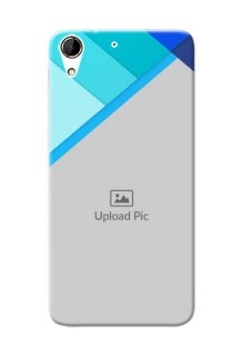 HTC Desire 728G Blue Abstract Mobile Cover Design